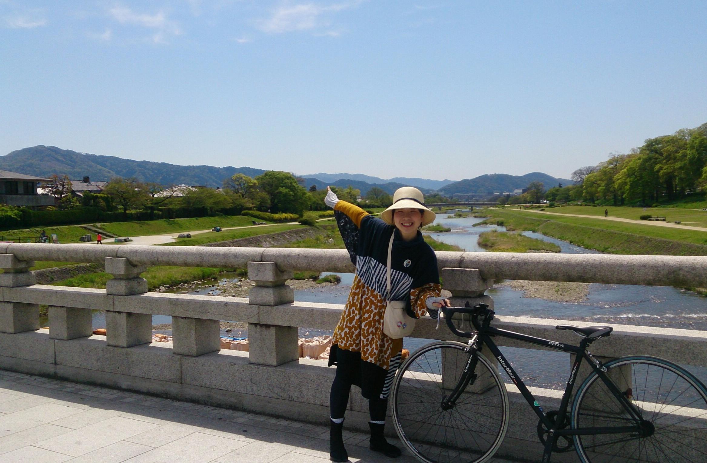 サイクリングからの【かかと】でのぼる大文字